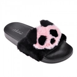 černé pantofle s pandou TENDENZ PTS18-019