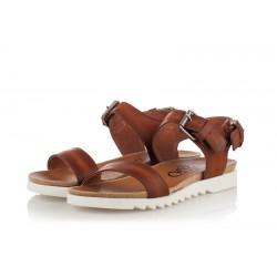hnědé kožené sandály INDIGO Shoes 1593