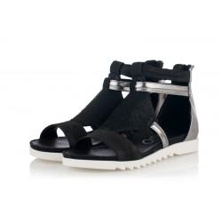 černo-stříbrné sandály INDIGO Shoes 1892