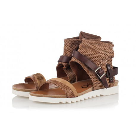 světle hnědé kožené sandály INDIGO Shoes 1684