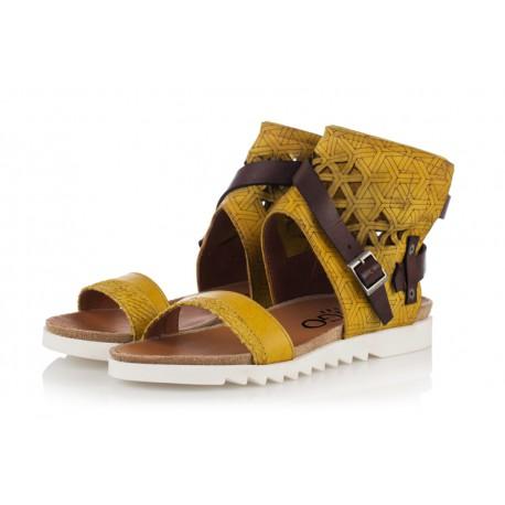žluté kožené sandály INDIGO Shoes 1684