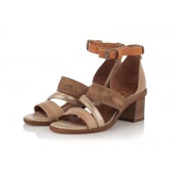 béžovo-hnědé kožené sandály INDIGO Shoes 1882