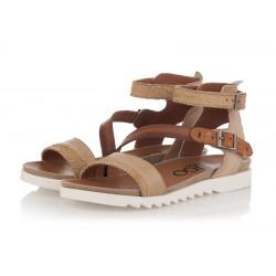 béžovo-hnědé kožené sandály INDIGO Shoes 1686