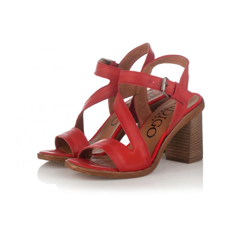 c5f4589a429e červené kožené sandály na širokém podpatku INDIGO Shoes 1594. Loading zoom