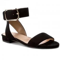 černé kožené sandály SAGAN 2874