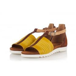 žluté kožené sandály INDIGO Shoes 1876