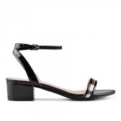 černé sandálky na širokém podpatku TENDENZ VKS18-019