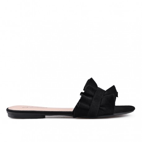 černé pantofle TENDENZ VKS18-021