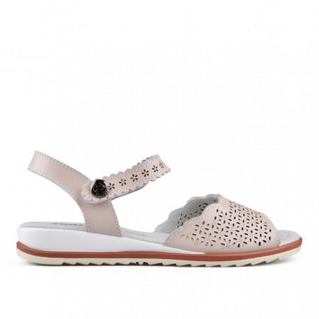 béžové kožené sandálky TENDENZ NTS18-084