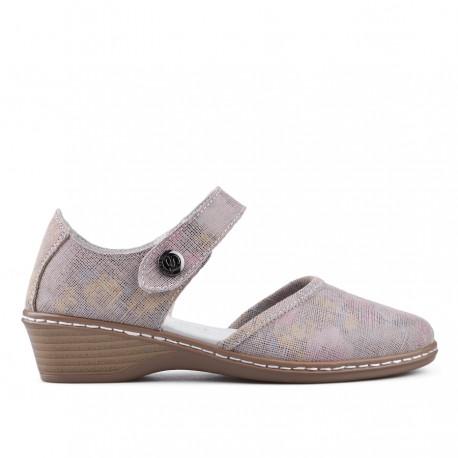 béžovo-růžové kožené sandálky TENDENZ NTS18-090
