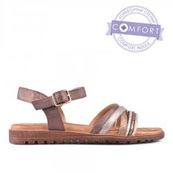 hnědé sandálky TENDENZ CMS18-011