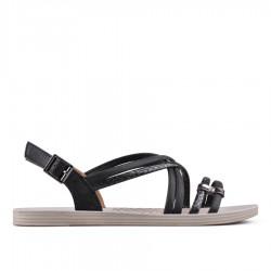 černé sandálky TENDENZ CMS18-015
