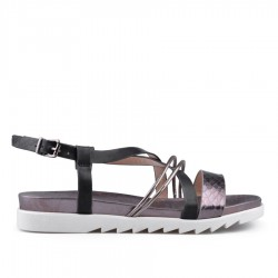 černé sandálky TENDENZ CRS18-028