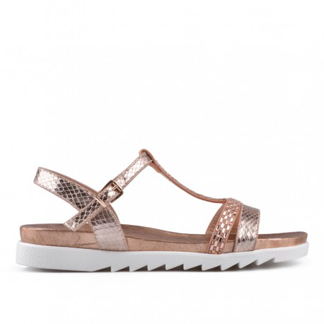 zlatavě růžové sandálky TENDENZ CRS18-029