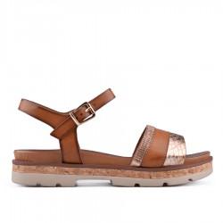 hnědé sandálky TENDENZ CRS18-033
