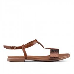 hnědé sandálky TENDENZ CRS18-031