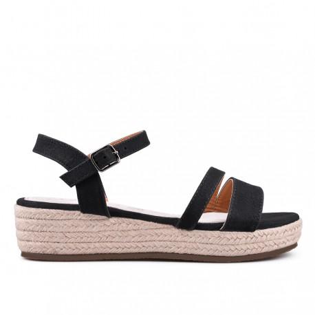 černé sandálky TENDENZ GBS18-020