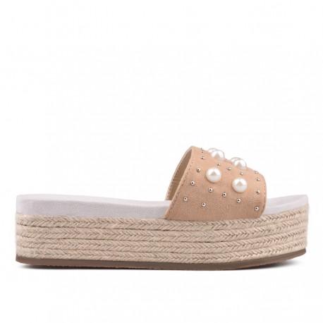 béžové pantofle TENDENZ GBS18-028