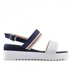 modro-bílé sandálky na klínu TENDENZ GBS18-048