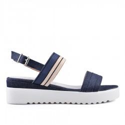 modré sandálky na klínu TENDENZ GBS18-049