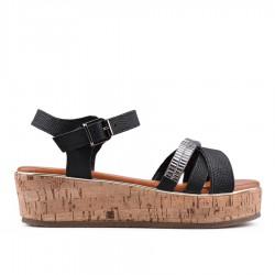 černé sandálky na platformě TENDENZ GBS18-057