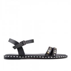 černé sandálky na platformě TENDENZ GBS18-060