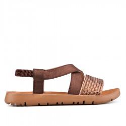 třpytivě hnědé sandálky Tendenz VIS18-023
