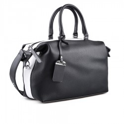 černo-bílá kabelka TENDENZ FFS18-065