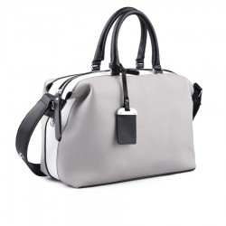šedo-bílá kabelka TENDENZ FFS18-065