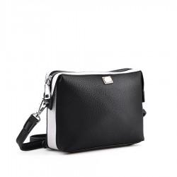 černo-bílá malá kabelka TENDENZ FFS18-068
