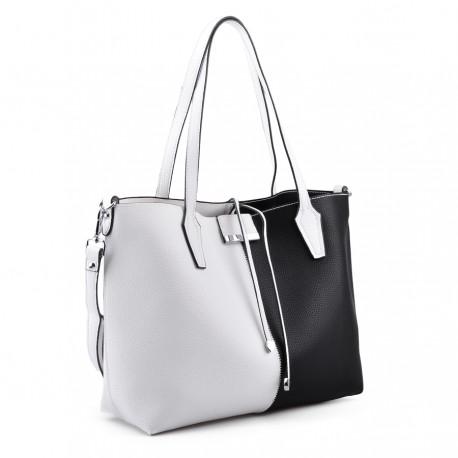 černo-bílá kabelka TENDENZ FFS18-069