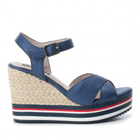 modré sandálky na klínu Refresh 64090