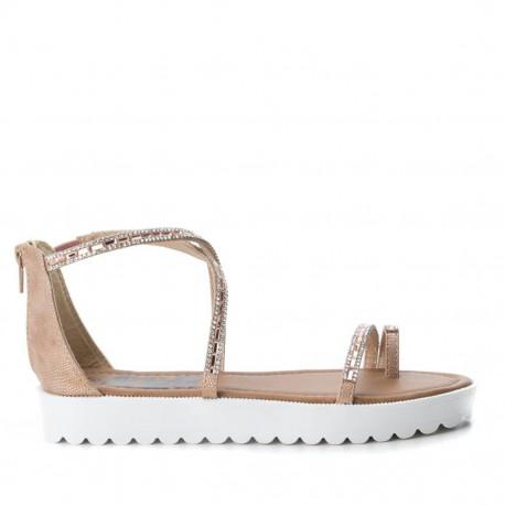 třpytivě béžové sandálky Refresh 64202