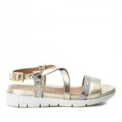 zlaté kožené sandálky Carmela 66197