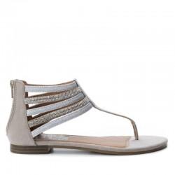 béžovo-stříbrné sandálky Refresh 64366