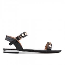 černé sandálky TENDENZ GBS18-027