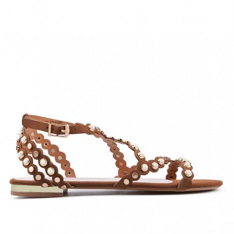 hnědé sandállky TENDENZ GBS18-026