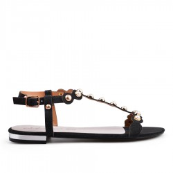 černé sandállky TENDENZ GBS18-025