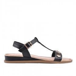 černé sandálky TENDENZ IRS18-002