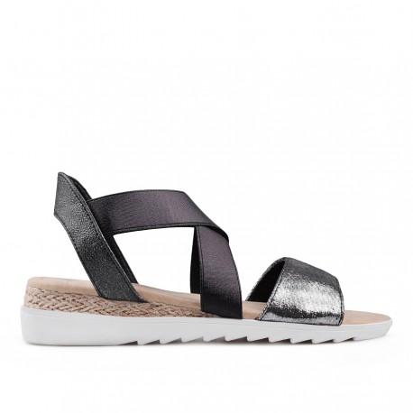 zlaté sandálky na platformě TENDENZ IRS18-001