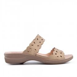 béžové pantofle TENDENZ OTS18-024