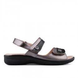 černo-metalízové sandálky TENDENZ OTS18-003