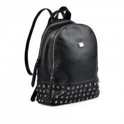 dámský černý batoh se cvoky TENDENZ FFW18-010