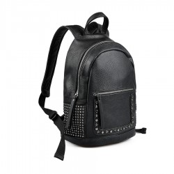 dámský černý batoh se cvoky TENDENZFFW18-013