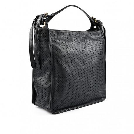 černá perforovaná kabelka TENDENZ FFW18-034