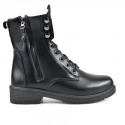 černá šněrovací kotníková obuv se zipem ENDENZ QMW18-048
