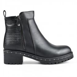 černá kotníková obuv TENDENZ VSW18-022