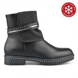 černá stylová kotníková obuv TENDENZ REW18-001