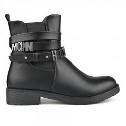 černá stylová kotníková obuv TENDENZ REW18-006