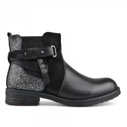 černá stylová kotníková obuv TENDENZ VSW18-065